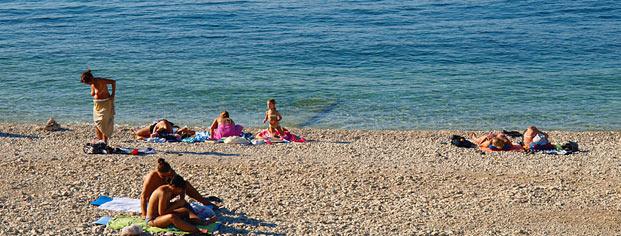 Strande Istrien Karte.Istria Sun Strand Ambrela In Pula Istrien Kroatien