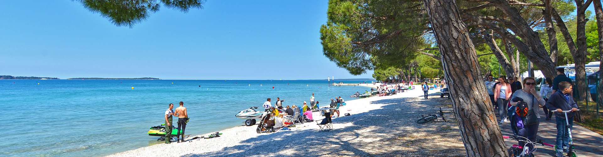 Istria Sun Strand Bi Val In Pula Istrien Kroatien Karte