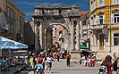 Cultural sight Triumphal Arch of the Sergi – Golden Gate