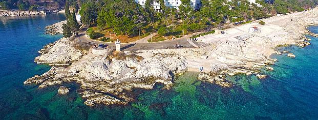 Istrien Karte Rabac.Istria Sun Strand Lanterna In Rabac Istrien Kroatien Karte