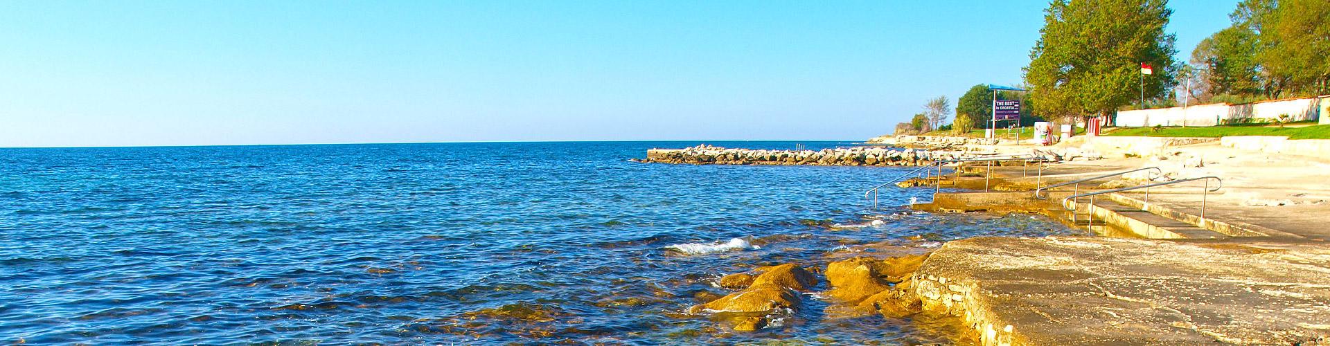 Istria Sun Strand Mareda In Novigrad Istrien Kroatien